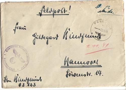 German Field Mail - Translation
