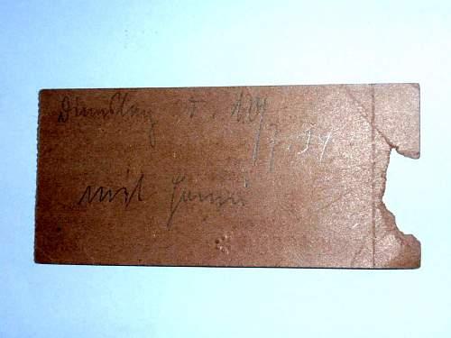 Ticket to a NSDAP meeting in Berlin 10/7 1934