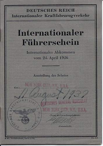 German International Drivers License issued in New York