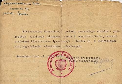 Click image for larger version.  Name:1945 UNRRA - Poland.  b.jpg Views:545 Size:46.9 KB ID:493814
