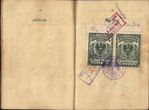 German visas - Poland 1939 & 1940