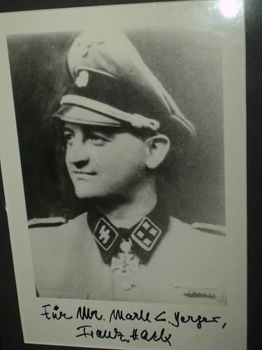 Signatures of Waffen SS Knights Cross Winners