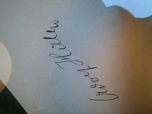 Is this Hitler's real signature or a print?