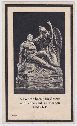 Share Your Death Card (Sterbebilder) - Religious Scene (only)