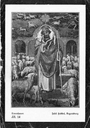 Share Your Death Card (Sterbebilder) - Religious Scene (only)