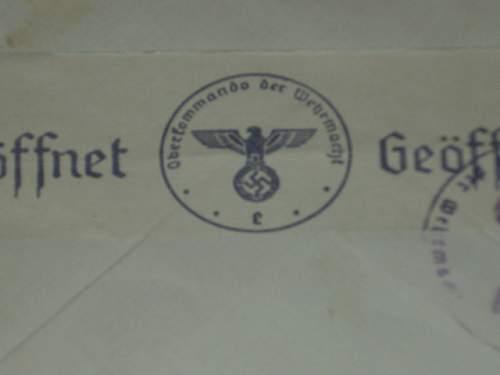 Censored envelope  ww2...