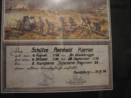 Pre war military certificates