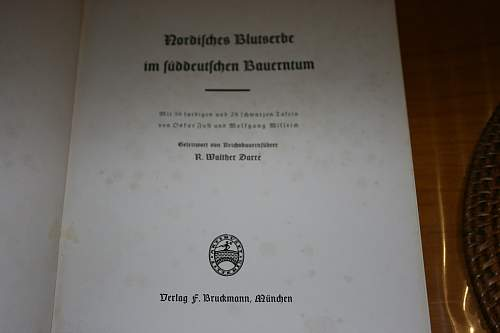 A Willrich book from SS leadership school Wewelsburg