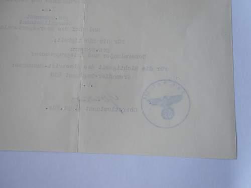 Third Reich Heer Document - Original or Fake?