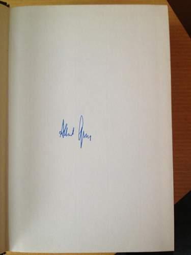 Albert Speer signed Book - Spandau