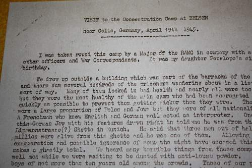 report from american troops in belsen concentration camp