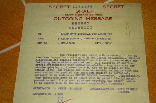 warning documents and propaganda from the end of the war