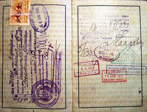 German chemical-plant workers passport