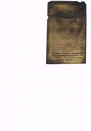 Propaganda leaflet directed at Soviet armies