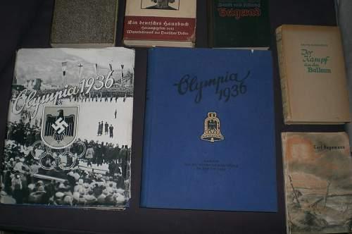 Olympics 1936 & Some books.