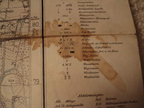 Luftwaffe Maps with markings