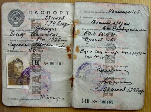 1940 Russian passport...?