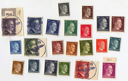 Hitler post stamps