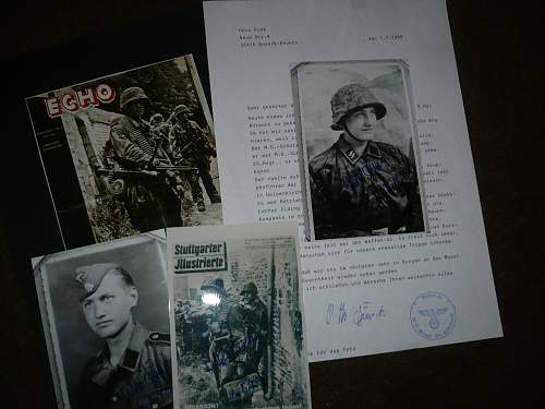 Signed photo of Otto Funk 12th ss pz div Hitlerjugend