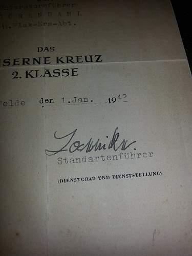 SS 1939 Eisernes Kreuz Second Class