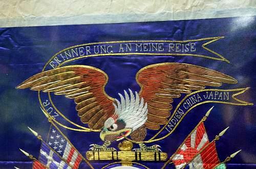 "Embroidery of the  German Blockade Runner ""RAMSES."""