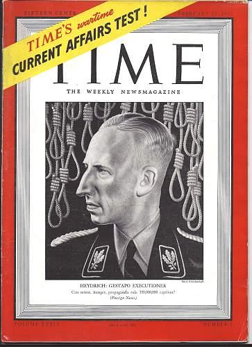 Feb.16,1942 Time Magazine (Heydrich cover)