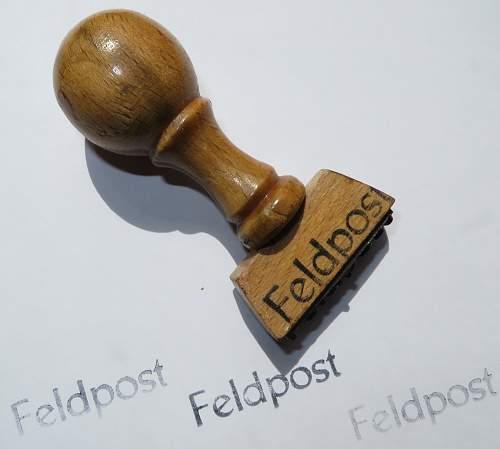 Feldpost stamp from Jersey, Channel Islands.