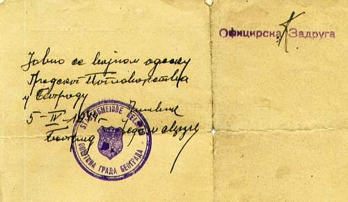 some help with Yugoslavian writing - POW release form 1942