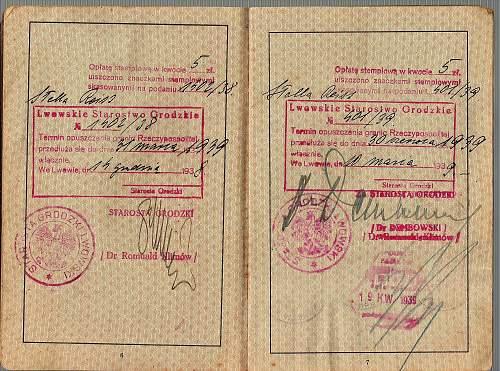 German passport - Krakau consulate issue - 1938