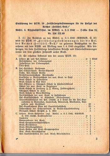 healing welfare rules for the Polizei des Reiches