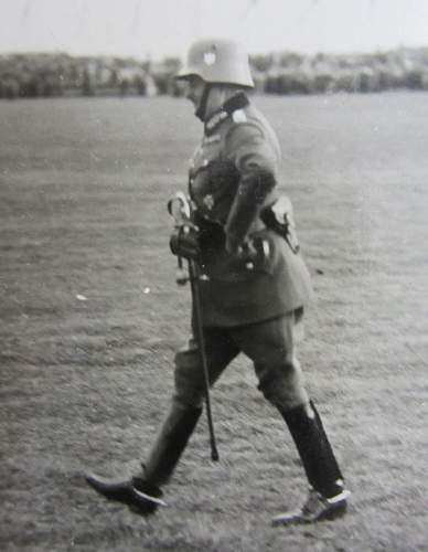 Wehrmacht General in full dress with stahlhelm , 1937