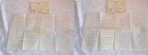 "Some letters a soldier writing to his girlfriend from ""Dienststelle""  18393C"