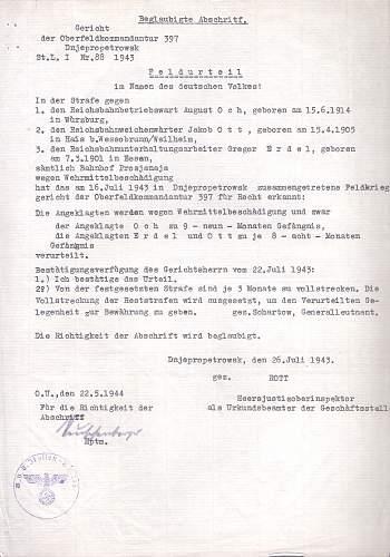 Feld Urteil from Dnjepropetrowsk