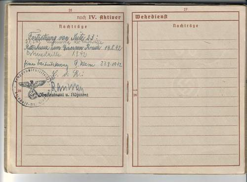 Erich Stoffregen Ritterkreuz document?
