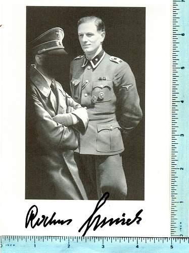 Rochus Misch and Karl-Wilhelm Lindemann signatures
