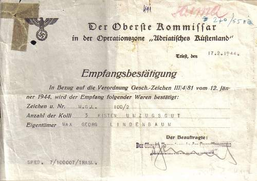 what is this document? 1944 Trieste?