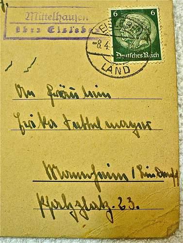SS Postcard: Flag-Raising over Krakow