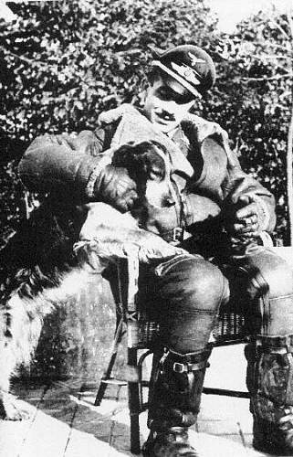 Click image for larger version.  Name:galland with dog.jpg Views:61 Size:62.1 KB ID:598622