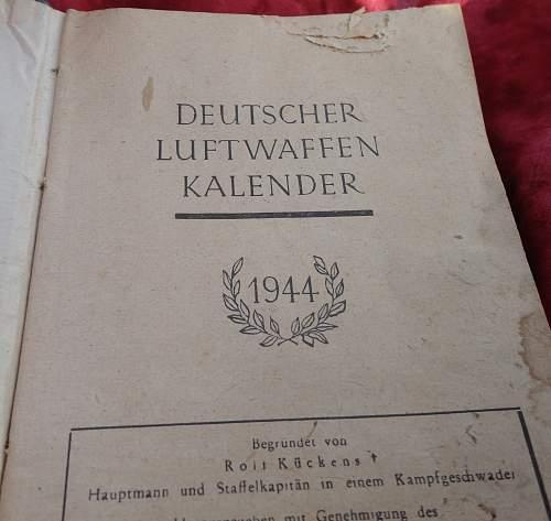 Luftwaffe 1944 Kalender Book