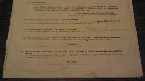 Interesting Guernsey Occupation Document.