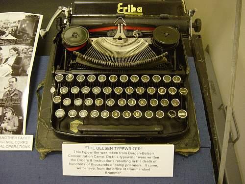 SS Typewriter from KL Bergen - Belsen.