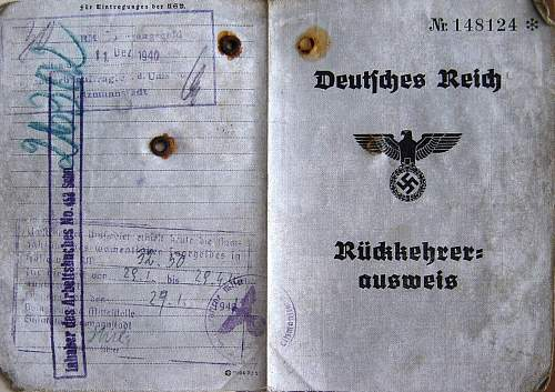 Click image for larger version.  Name:Ruckkehrer Ausweis 1940 cover..jpg Views:228 Size:204.2 KB ID:6073