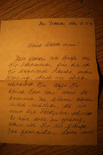 Letter from a German soldier in occupied Paris, 1940/41