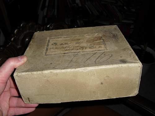 Feld post parcel box.  Feldgrau Heft.