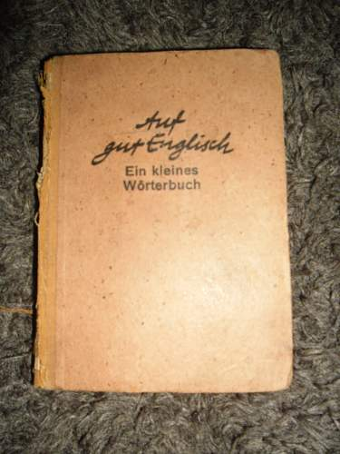 Old germany books just before the start of ww2 - post war .
