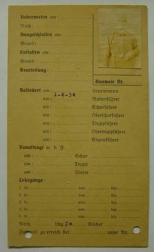 SA Mans record index card