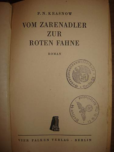 Book with SS and GESTAPO stamps