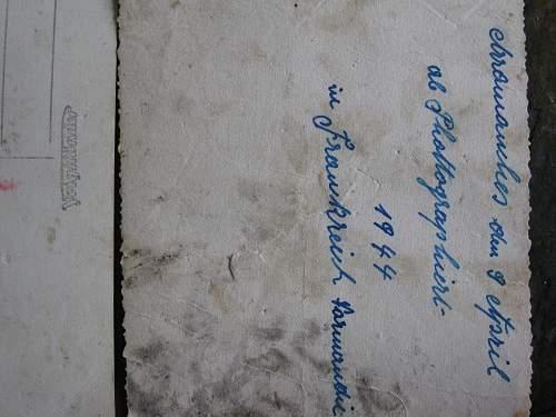 Wallet taken from dead German