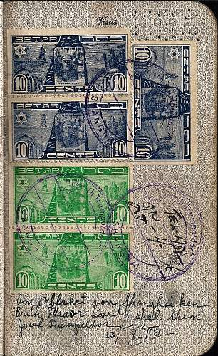 German hand writing in a passport...?