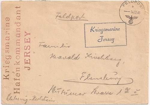 Another non original Channel Island envelope.